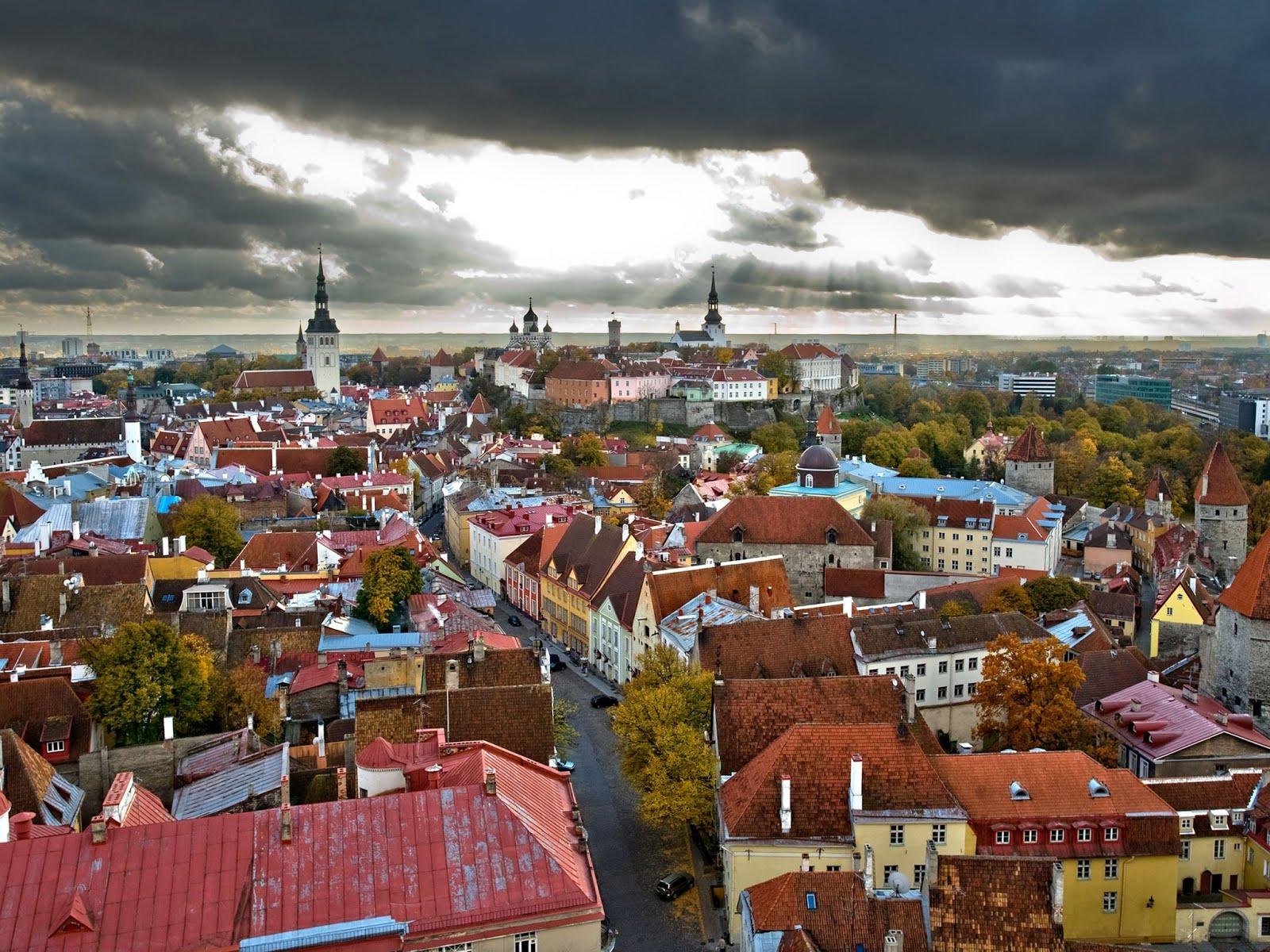 Таллин - крыши