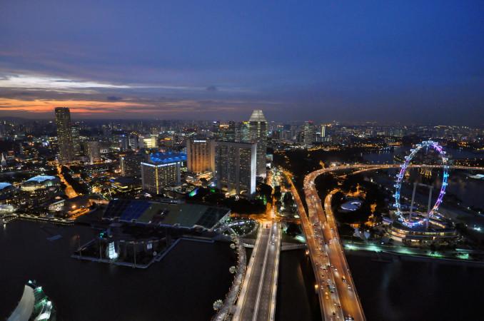 Вид из Скай парка на Сингапур