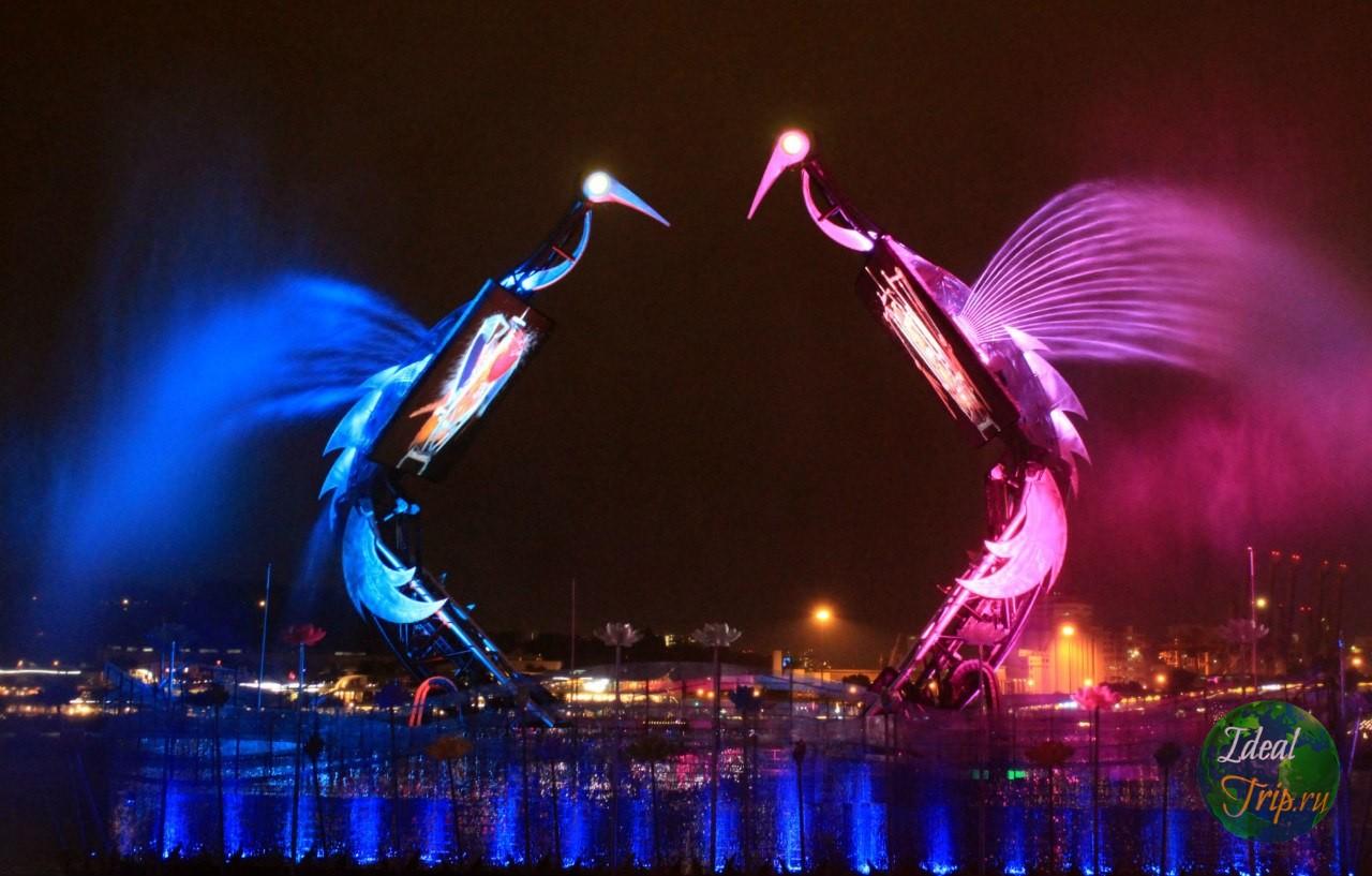 Танцующие фонтаны на о. Сентоза