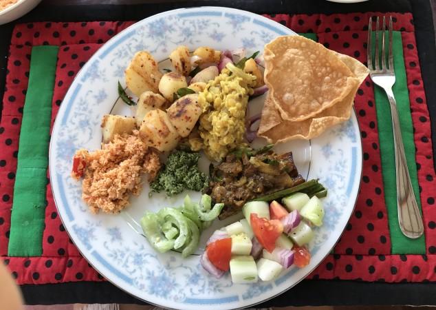 Местная еда на Шри-Ланке