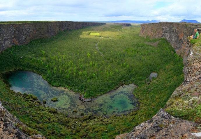 Каньон Аусбирги в Исландии