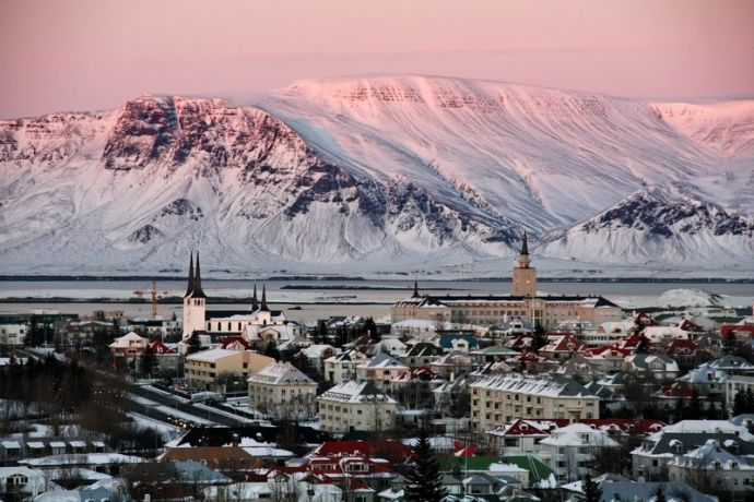 гора Эсья в Исландии