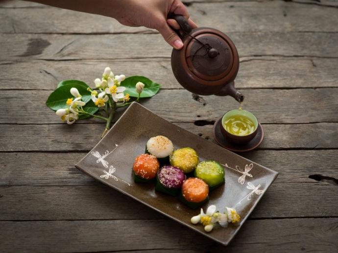 Зеленый чай и роллы