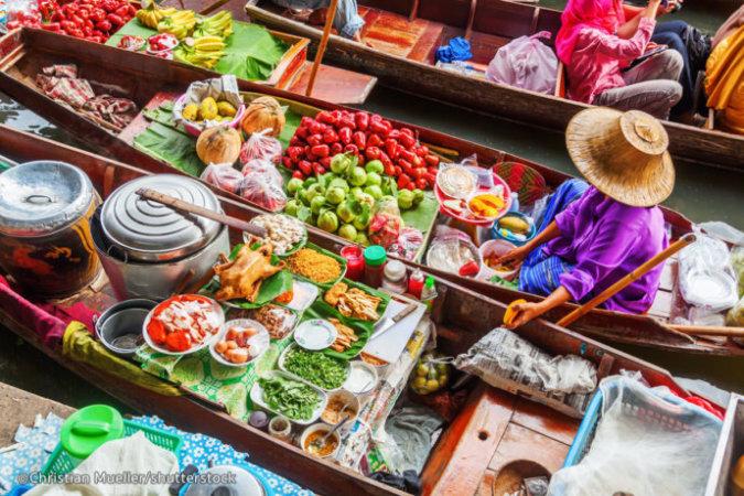 Плавучий рынок Бангкока