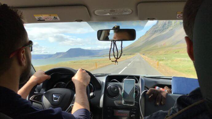 На дороге в Исландии
