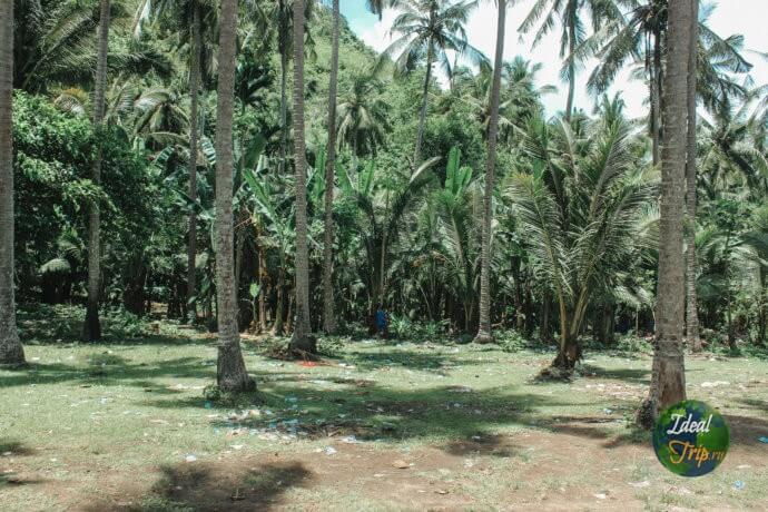 Мусор рядом с пляжем в Индонезии