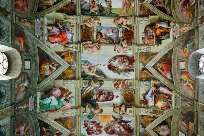 Потолок, который разрисовал Микеланджело