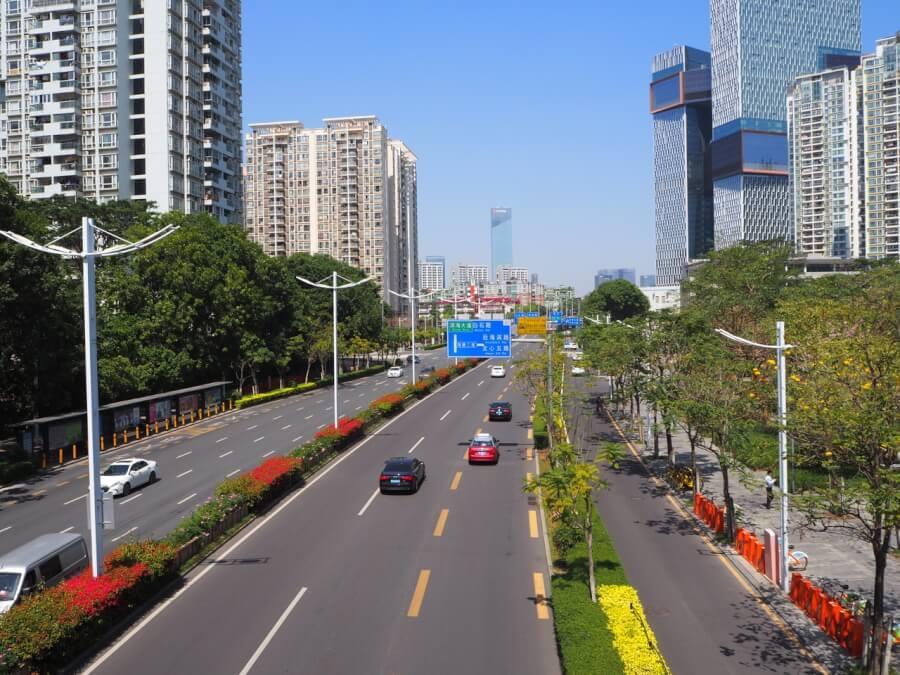 дороги в Женьшень (Китай)