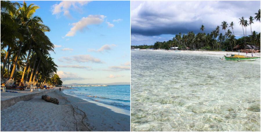 пляжи острова Панглао (Dumaluan слева, Doljo справа)