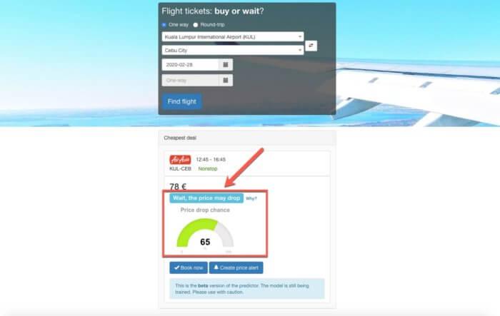 Предсказатель цен на авиабилеты